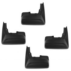 11-15 Toyota Sienna Molded Black Plastic Front & Rear Mud Flap Splash Guard (Set of 4) (Toyota)