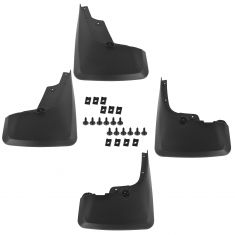 10-15 4Runner (w/o Run Boards) Molded Black Plastic Front & Rear Mud Flap Splash Guard Set (Toyota)
