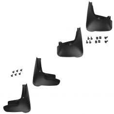03-08 Toyota Corolla (exc S) Mld Blk Plastic Front & Rear Mud Flap Splash Guard (Set of 4) (Toyota)