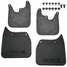 01-02 Tacoma 2WD (exc Prerunner) ~TOYOTA~ Logoed Mld Blk Plstc Mud Flap Splash Grd (Set of 4) (TY)