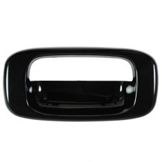 99-07 Chevy Silverado, GMC Sierra Smooth Black Tailgate Handle Bezel