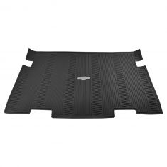 07-14 Chevy Suburban w/3rd Row Seat Molded Ebony Rubber ~Bowtie~ Logoed All Weather Cargo Mat (GM)
