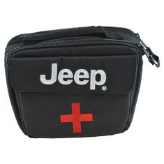 14-16 Cherokee; 07-16 Wrangler Rear Cargo Mtd First Aid Bag/Safety Kit w/~Jeep~Logo Enclosure (MP)
