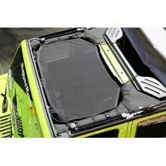 07-14 Jeep Wrangler Eclipse Black Mesh Sun Shade (Rugged Ridge)