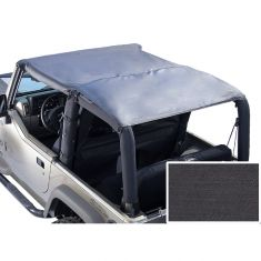 Roll Bar Top, Black Denim, 76-86 Jeep CJ7 and 87-91 Wrangler (YJ)