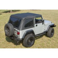 Bowless XHD Soft Top, Black Diamond, 97-06 Jeep Wrangler (TJ)