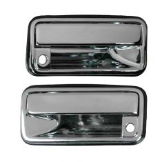 Outer Front Door Handle Pair Chrome