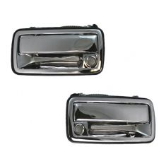 94-04 S10 PU; 95-05 S10 Blazer; 96-00 Hombre ALL Chrome Front Door Handle Pair