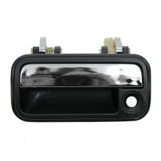 88-92 Mazda 626 Black & Chrome Outside Door Handle LF