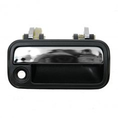 88-92 Mazda 626 Black & Chrome Outside Door Handle RF