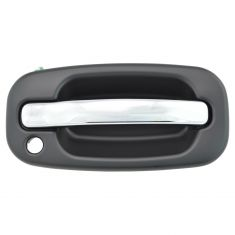 99-07 GM Full Size PU SUV Outside FRONT Chrome & Black Door Handle (w/Keyhole) RF