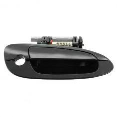 02-06 Nissan Altima Front Smooth Black Outside Door Handle w/Keyhole RF