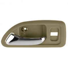 94-97 Honda Accord 4DR (w/Power Locks) Front (Beige w/Chrome Lever) Inside Door Handle LF