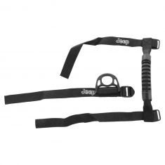 01-15 Jeep Wrangler Roll Bar Mounted ~Jeep~ Logoed Grab Handle & Coat Hook Combination Kit (Mopar)