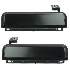 1979-93 Ford Exterior Door Handle Black Steel Pair
