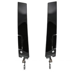88-97 Cutlass Sup Gloss Black Ext Door Handle Pair