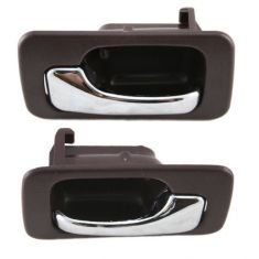 90-93 Honda Accord Red 4 door with Manual Locks Front or Rear Interior Door Handle Pair