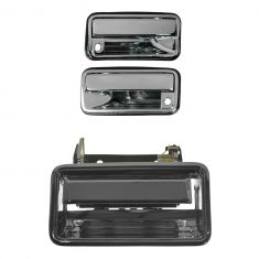 1988-01 GM Pickup C/K Series Door & Tailgate Exterior Handle Set Chrome