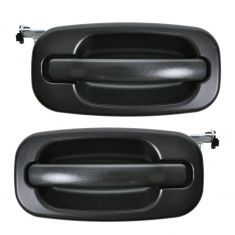 99-07 Silverado Textured Black Outside Rear Door Handle Pair