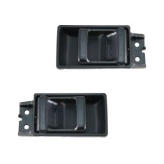 86-95 Nissan Pickup Door Handle Inside Blk Pair