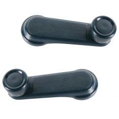 1987-95 Nissan Pathfinder Pulsar Sentra Window Crank Handle Blue Pair