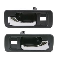 90-93 Honda Accord Door Handle Inside w/pwr Black Pair