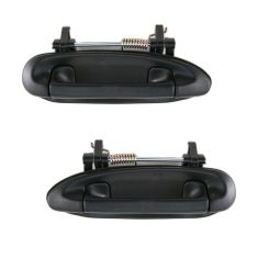 91-94 Sentra Outer Black Door Handle Front or Rear PAIR