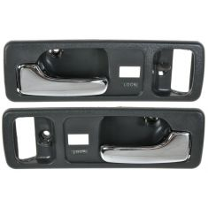 90-93 Honda Accord 2dr w/Pwr Locks Gray Inside Door Handle PAIR