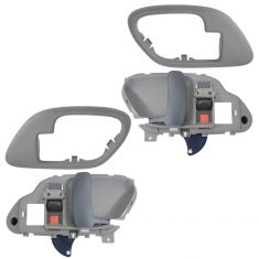 95-02 Chev PU Truck Int Door Handle & Bezel Gray Set PAIR