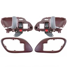 95-02 Chev PU Truck Int Door Handle & Bezel Red Set PAIR