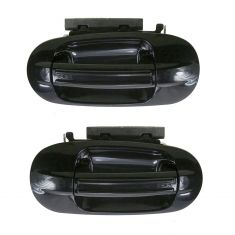 2003-09 Ford Expedition Gloss Black Outside Door Handle Rear PAIR