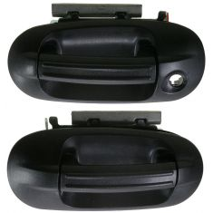 2003-11 Ford Expedition Textured Black Outside Door Handle Front PAIR