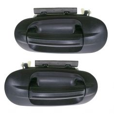 2003-11 Ford Expedition Textured Black Outside Door Handle Rear PAIR