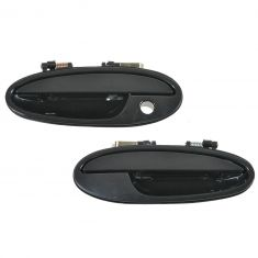00-05 Buick Lesabre, Pontiac Bonneville; 01-03 Olds Aurora Front Outside Door Handle Smooth Blk PAIR