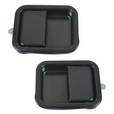 87-93 Jeep Wrangler Door Handle Outside Satin Black PAIR