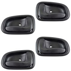 93-97 Toyota Corolla Inside Door Handle Black Set of 4