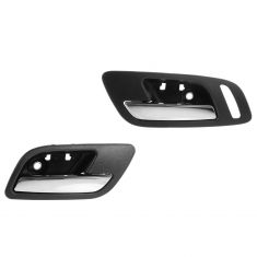 07-12 Cadillac Escalade, EXT, ESV Front Door Inside Handle (Ebony & Chrome) PAIR