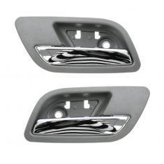 07-12 GM Full Size PU & SUV Rear Door Inside Handle (Titanium & Chrome) PAIR