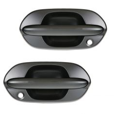 99-04 Honda Odyssey Front Outside Textured Black Door Handle Pair