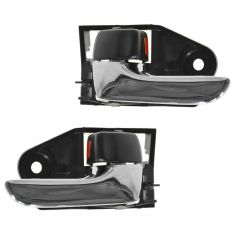 04-08 Toyota Solara RH; 05-12 Avalon Chrome & Dark Gray Inside Door Handle PAIR