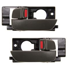 06-11 Hyundai Accent Sedan Front Door Dark Gray Inside Handle PAIR