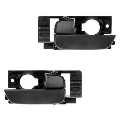 06-11 Hyundai Accent Sedan Front Door Gray Inside Handle PAIR