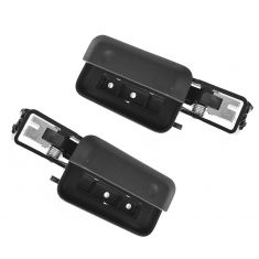 04-08 Ford F150 Reg & Crew Cab (w/o Pwr Locks) Front Inside Smooth Black Door Handle PAIR