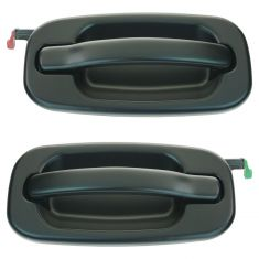 99-07 GM Full Size Pickup, SUV Rear Door Gloss Black Outer Door Handle PAIR