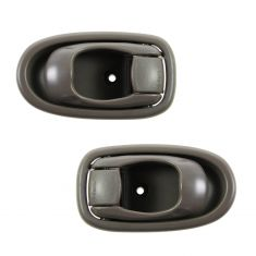 96-00 Hyundai Elantra Inner Beige Door Handle Front or Rear PAIR