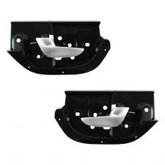 05-09 Volvo S60 Rear Inner (Black Hsg w/Silver Lever) Door Handle PAIR