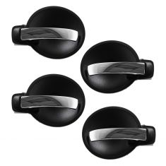 08-10 Charger; 07-08 Magnum Inner (Black Bezel w/Chrome Lever) Front & Rear Door Handle (Set of 4)
