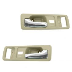 90-93 Honda Accord 2dr w/Pwr Locks Tan Inside Door Handle PAIR