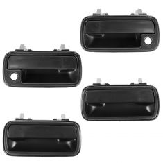 91-98 Suzuki Sidekick Front & Rear Door Outer Textured Black Handle SET of 4