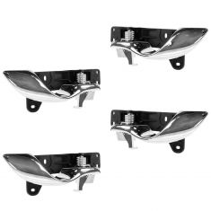 00-05 Cadillac Deville Chrome & Black Front & Rear Inner Door Handle Kit (Set of 4)